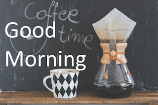 good morning with coffee cup image