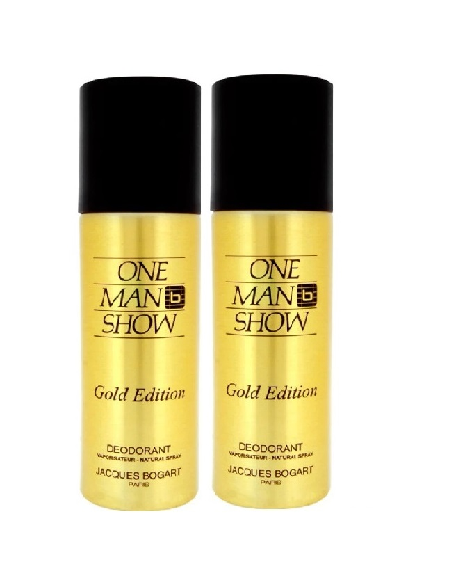 Pack Of 2 - One Man Show Gold Edition Body Spray 200 ml