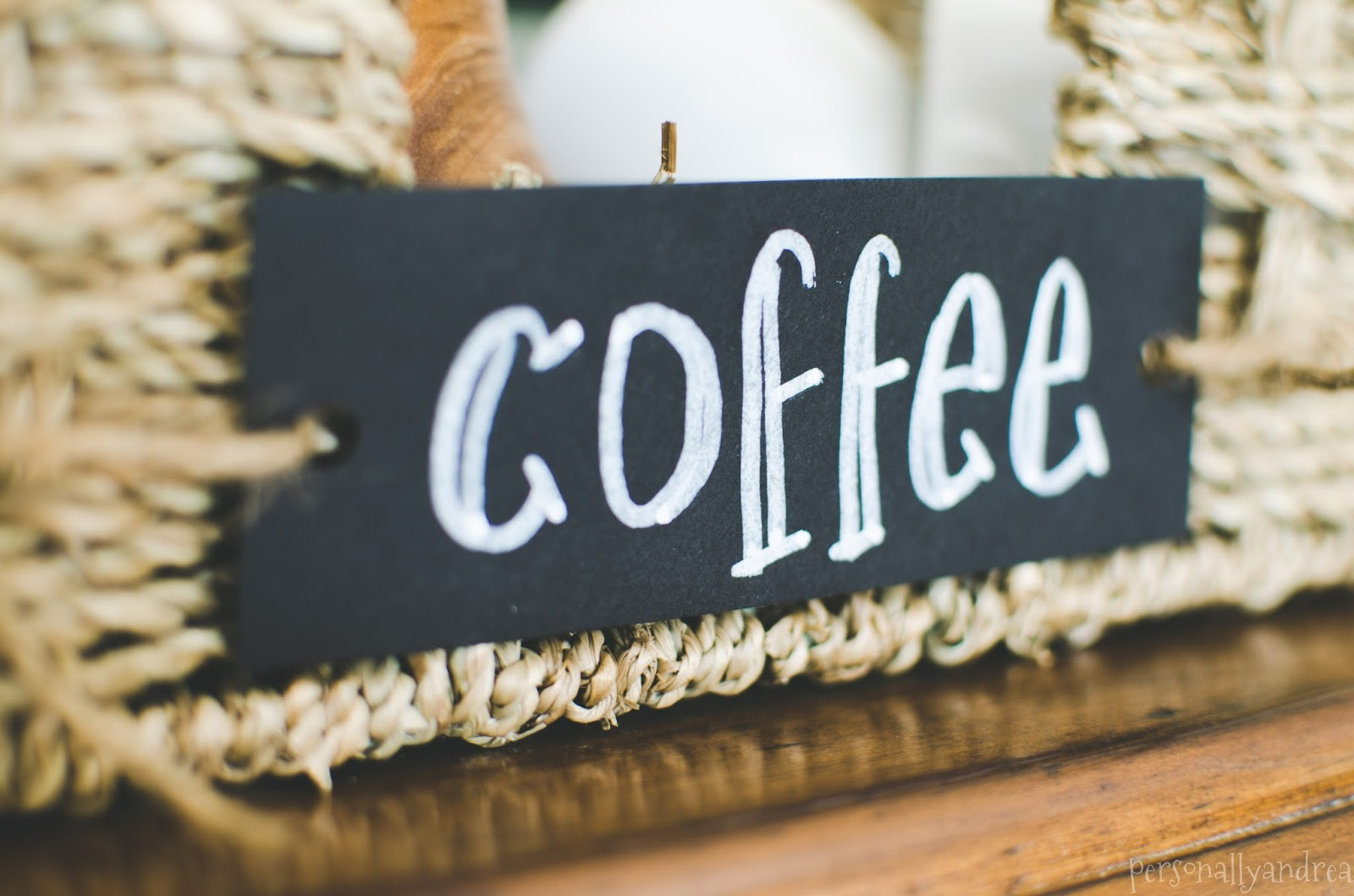 Coffee Station | Faux Chalkboard Label | personallyandrea.com