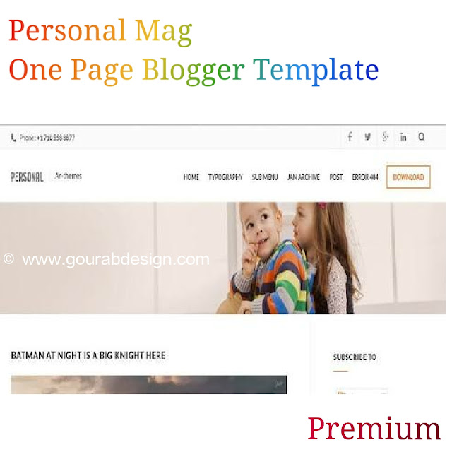 Personal mag one page blogger template