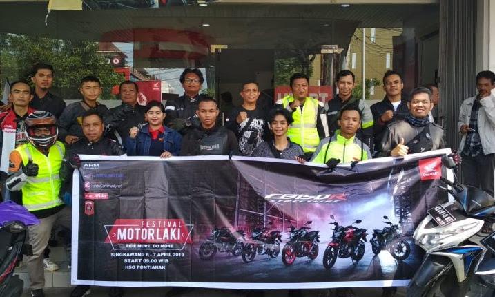 Gelar Festival Laki di Singkawang, Astra Motor Pontianak Undang Bikers Honda
