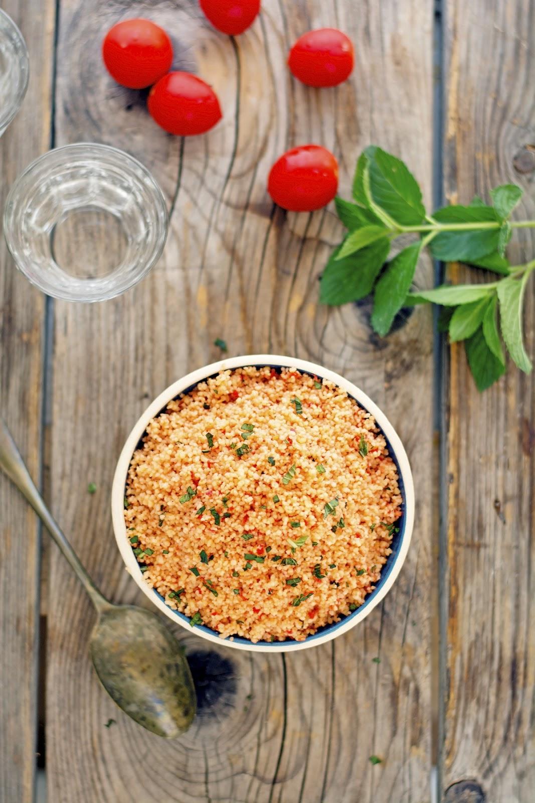 No-Cook Tomato CousCous Salad