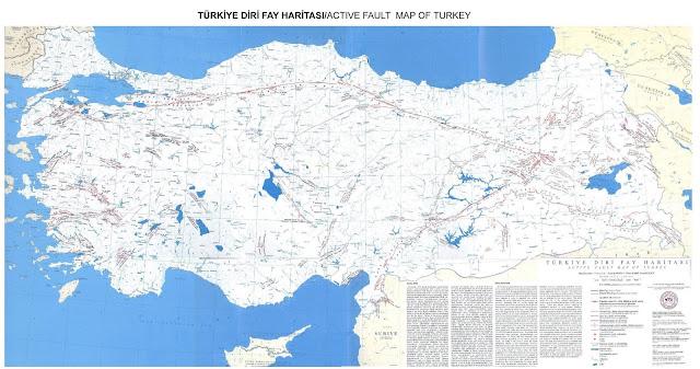 Türkiye'de Bulunan Diri Fay Hatları