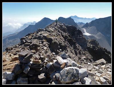 Llegando a la cima del Pic Lezat