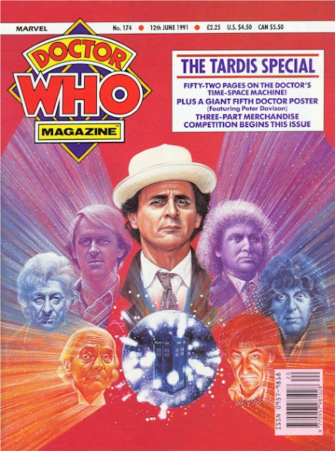 A lovely 1991 portrait by Alister Pearson for Doctor Who Magazine (there was a poster, but I can't find an image online)