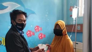Rohmat Selamat SH. MKN. Ketua DPC PWRI Bogor Bakti sosial Peduli Anak gizi Buruk kunjungi RS RST Dompet Duafa