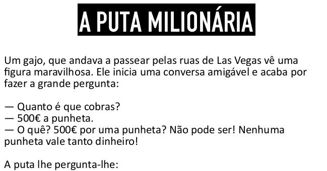A prostituta milionária