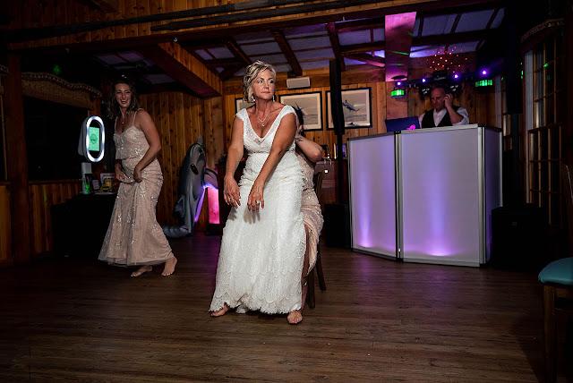 Bride and Bridesmaids dancing at Reception