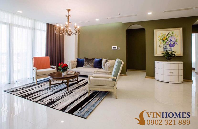 Cho thuê Penthouse 4 phòng ngủ tại tòa nhà Park 2 Vinhomes Bình Thạnh - bộ sofa ghế đẹp