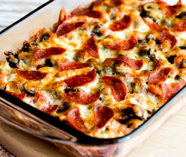 Low Carb Pizza Casserole #healthy #diet