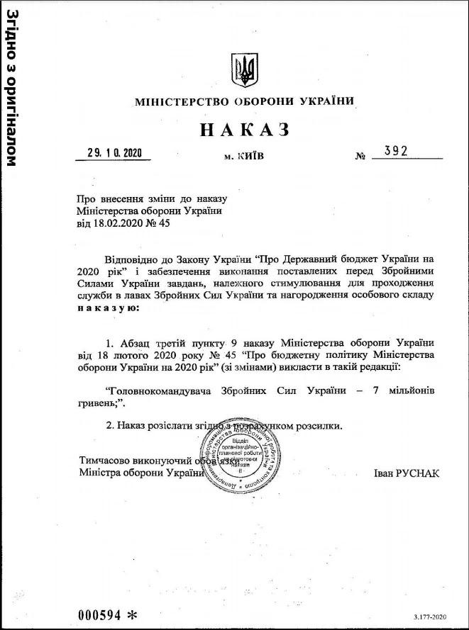 Хомчаку дозволи витратити на премії 7 мільйонів гривень