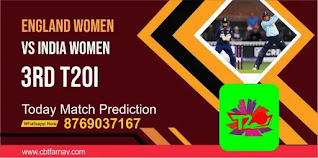 INDW vs ENGW 3rd Womens T20 Match 100% Sure Match Prediction