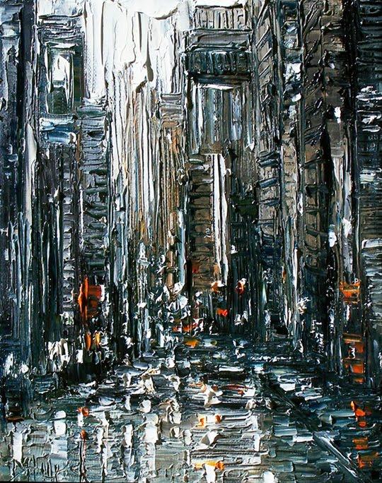Debra Hurd Original Paintings AND Jazz Art: Rainy Street ...