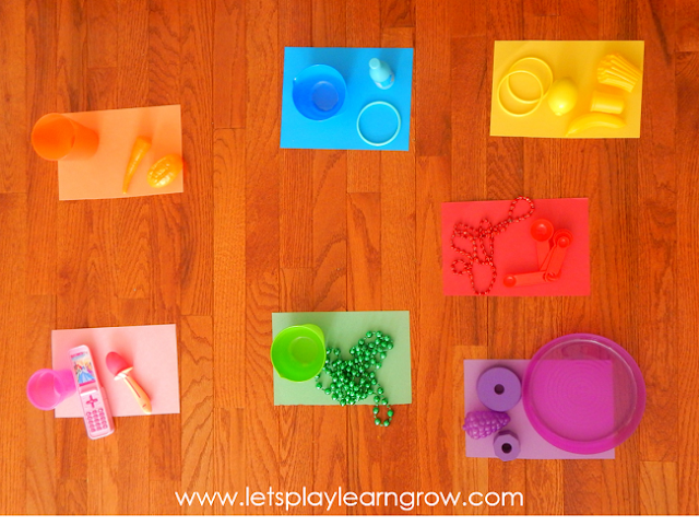 This gross motor color activity is perfec to get those wiggles out while practicing and exploring the colors in your child's everyday environment.