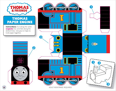 Puzzle, Thomas, Cut-out Engine, PDF Thomas