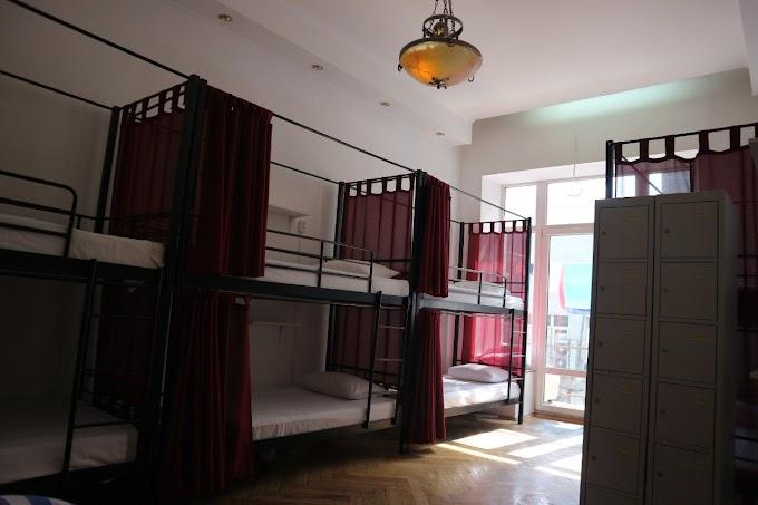 Кровать двухъярусная металлическая Эмма со шторками 80х190/200 ТМ Мадера