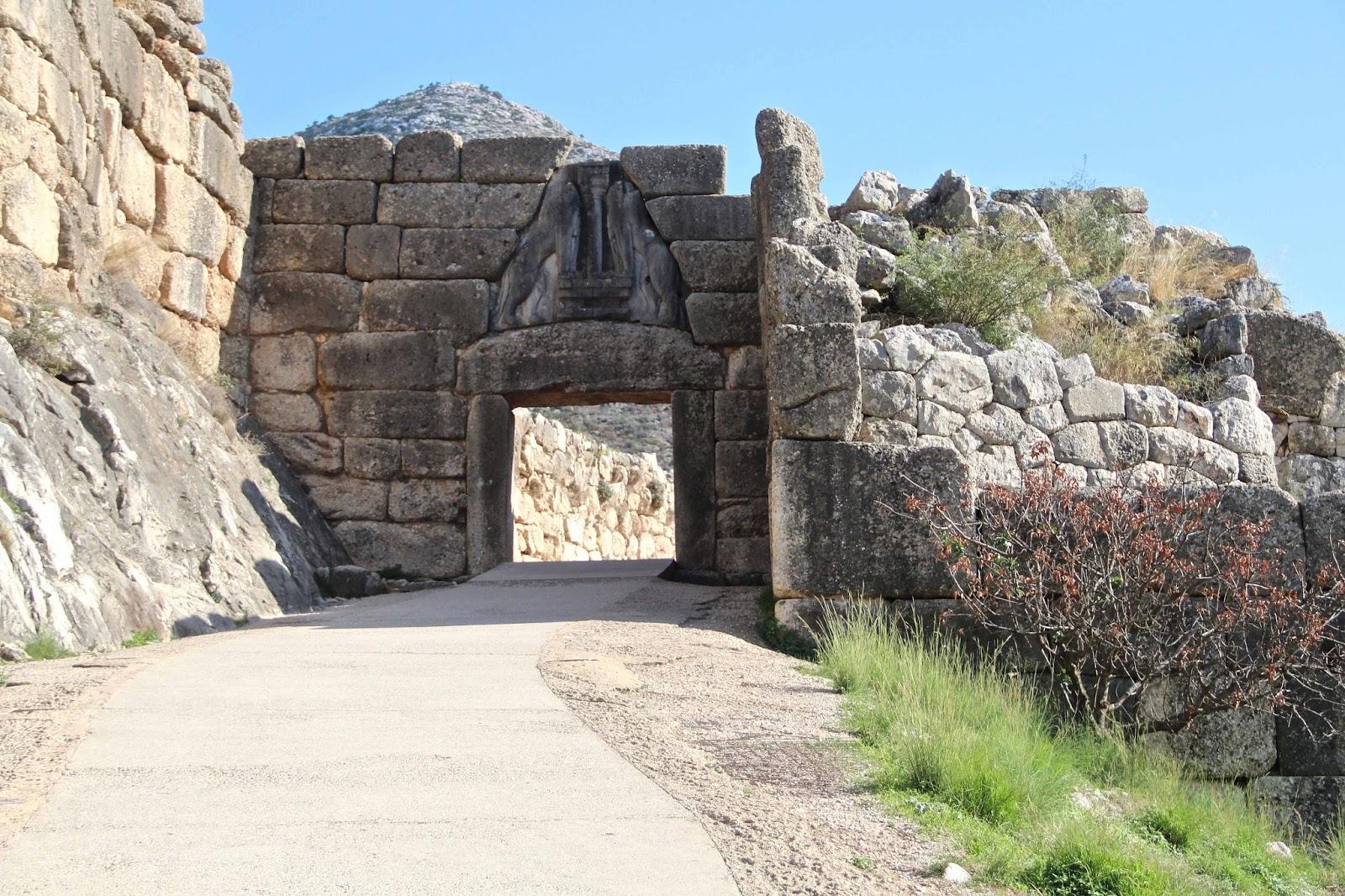 Mal di grecia - La porta dei leoni a micene ...