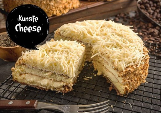 kunafe cheese oleh oleh kekinian bandung