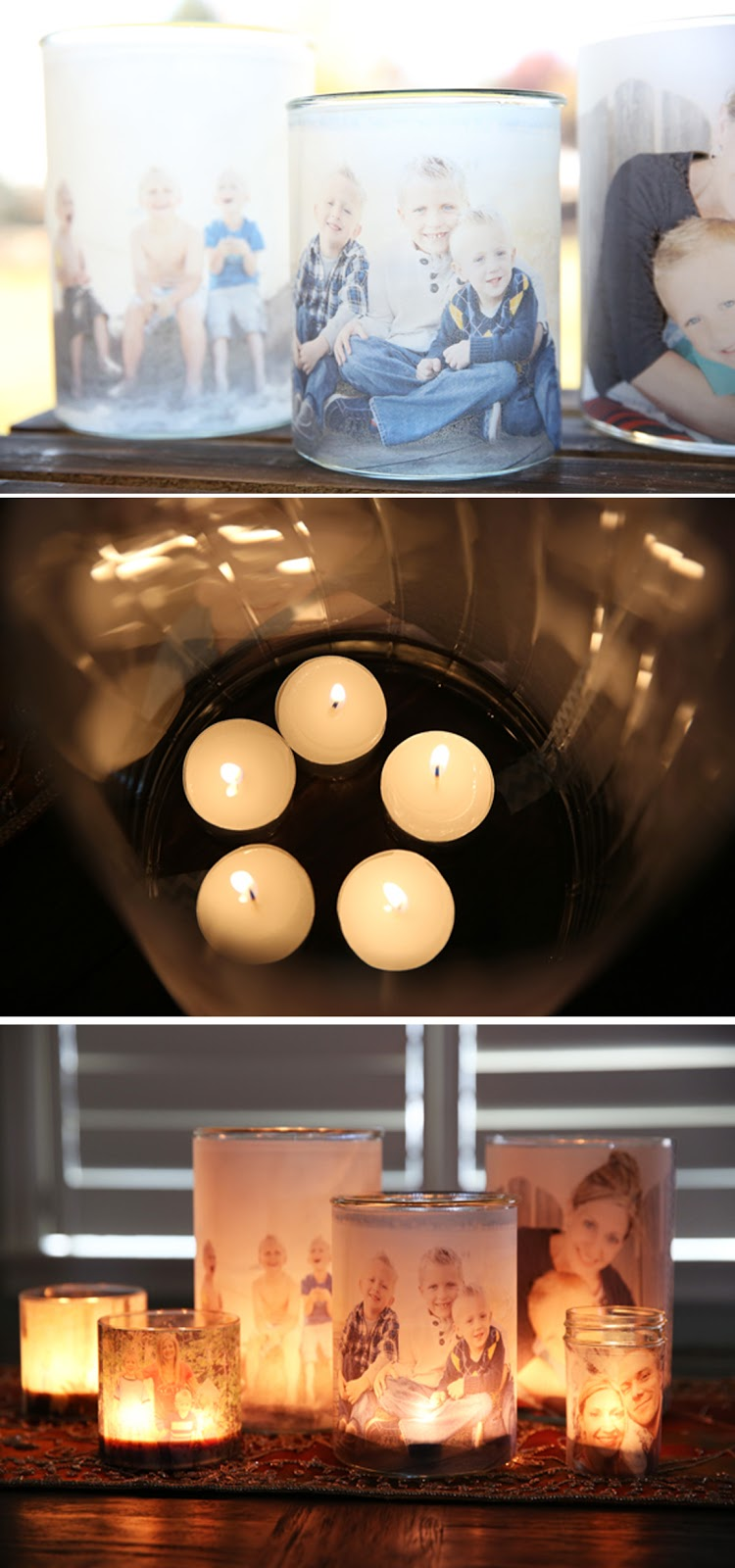 DIY como fazer luminária decorada com fotos