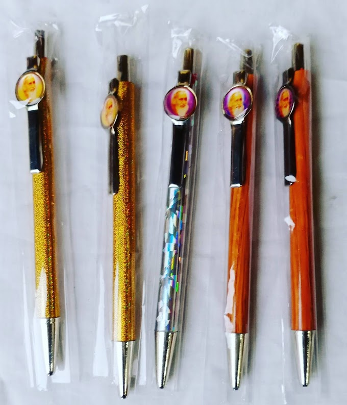 सद्गुरु महर्षि मेंही के चित्र युक्त सुंदर कलम पेन जो हर समय अपने गुरु को याद कराने में सक्षम है।