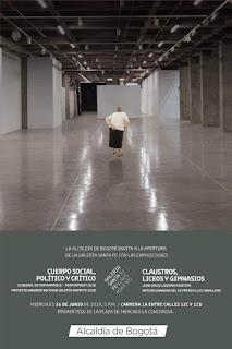 Exposiciones que abren la Galería Santa Fe de Bogotá