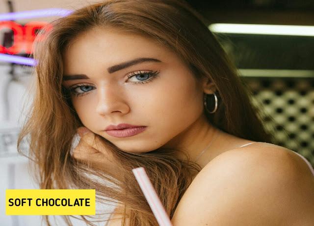gaya warna rambut wanita soft chocolate