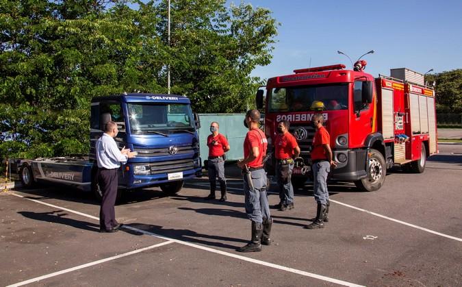 VWCO realiza o primeiro ciclo de treinamento de segurança para caminhões elétricos do Brasil