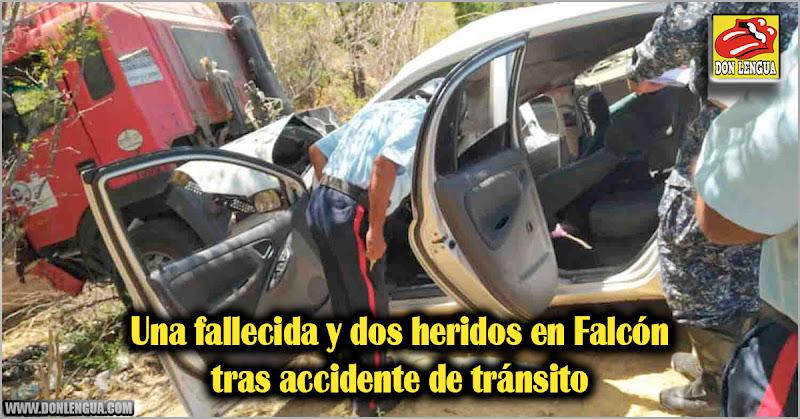 Una fallecida y dos heridos en Falcón tras accidente de tránsito