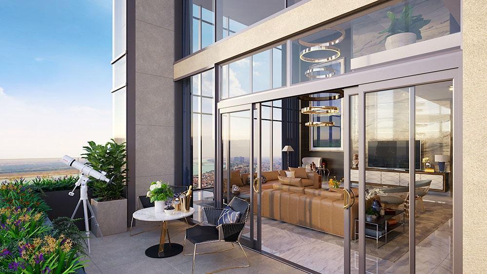 Penthouse thông tầng với View tuyệt đẹp