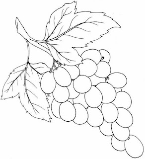 Gambar buah anggur kartun
