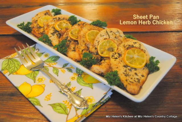 Sheet Pan Lemon Herb Chicken at Miz Helen's Country Cottage