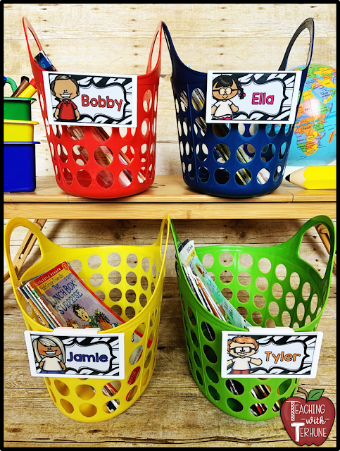 Individual Student Book Baskets