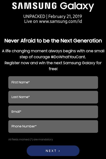 Dapatkan Samsung S 10 Gratis Pada Samsung Galaxy umpacked 2019