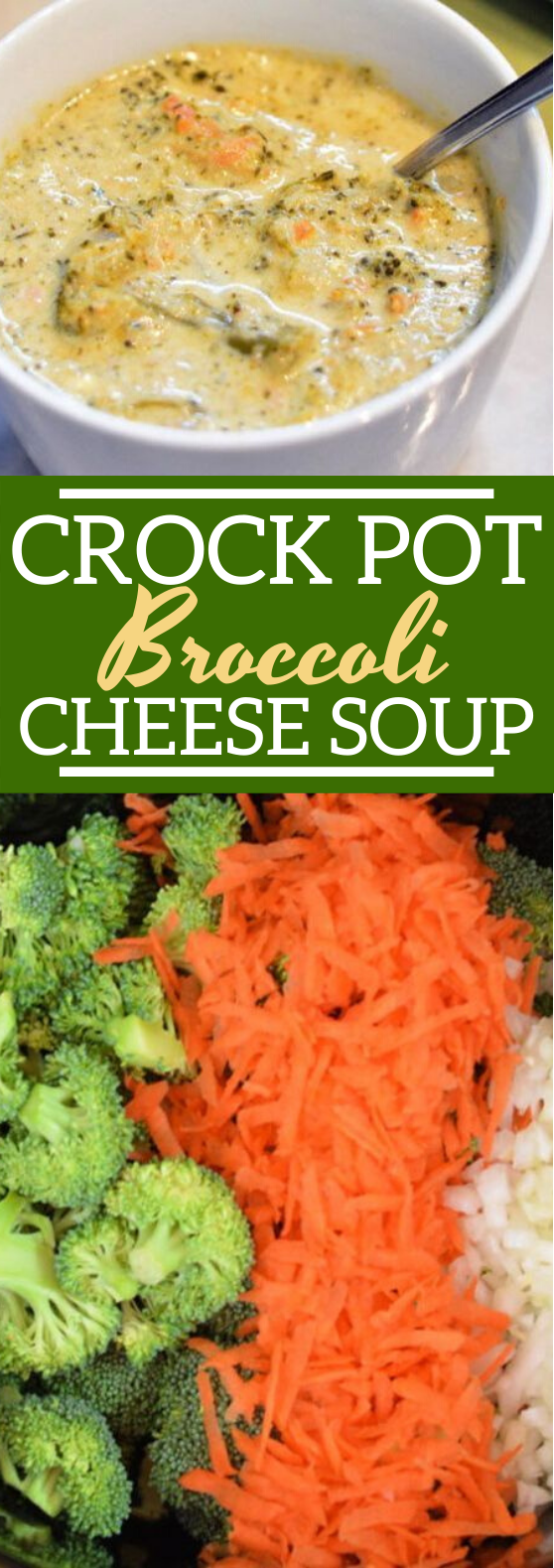 Crockpot Broccoli Cheese Soup #dinner #soup #vegetarian #comfortfood #instantpot