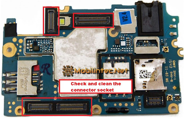 check and clean the connector socket oppo a37f