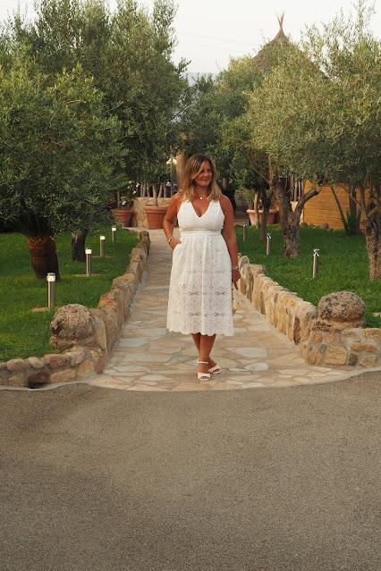 robe maje blanche été, corse, look du jour, les petites bulles de ma vie