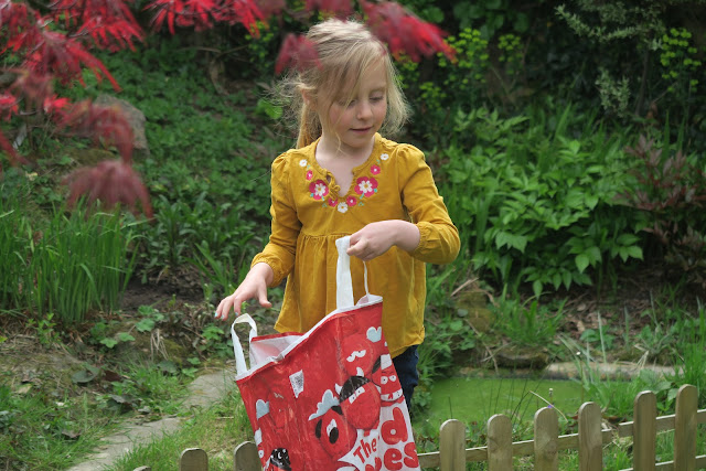 Lily easter egg hunting