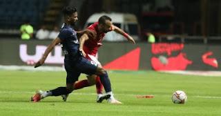 وتغلب الأهلي على إنبي بهدف واحد وتقدم ليواجه بيراميدز في ربع نهائي كأس مصر