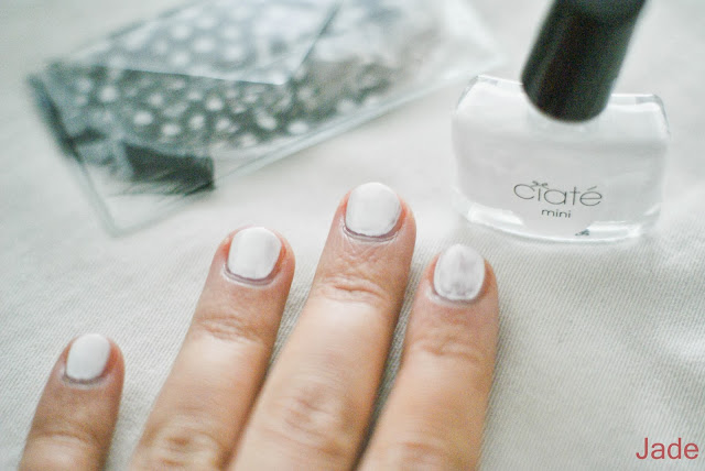 ciaté feathered manicure