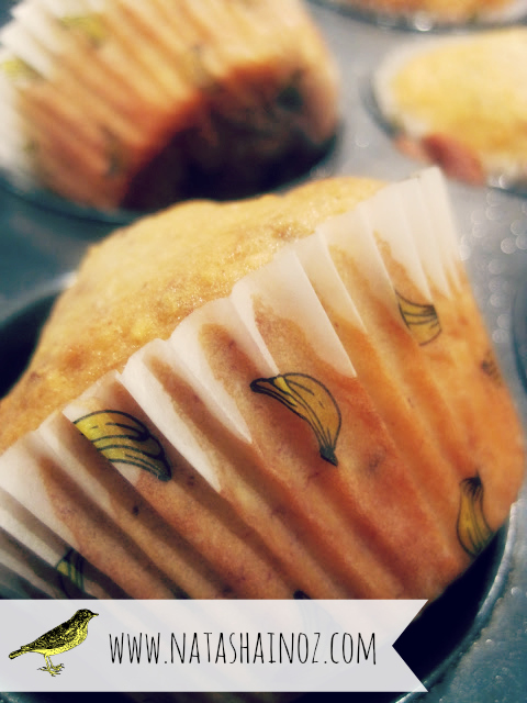 Banana & Coconut Muffin Recipe, Natasha in Oz
