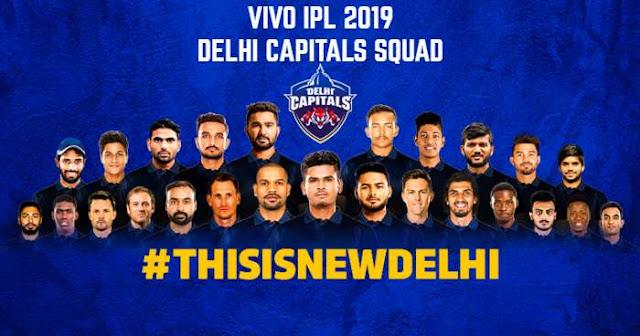 Delhi Capitals (DC) VIVO IPL 2019 Sqaud