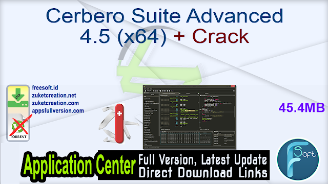 Cerbero Suite Advanced 4.5 (x64) + Crack