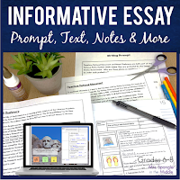 Middle School direct instruction for writing informative essays in printable and digital formats!