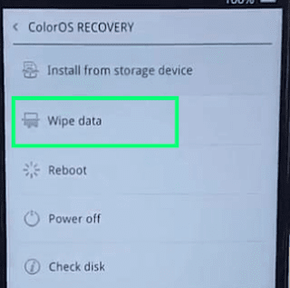 Wipe Data Recovery Mode Oppo F5