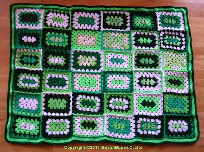 granny rectangle afghan