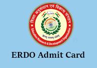 erdo admit card 2016 btt teacher