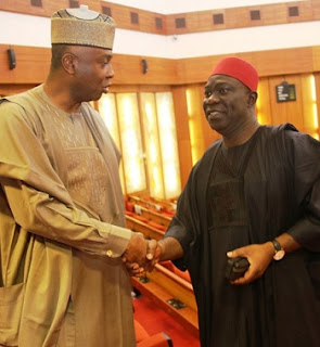 BREAKING: Saraki Dumps APC At Last, Meets With PDP Caucus, Jonathan Last Night
