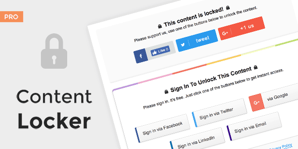 Content Locker Pro – Premium WordPress Plugin Free 2020
