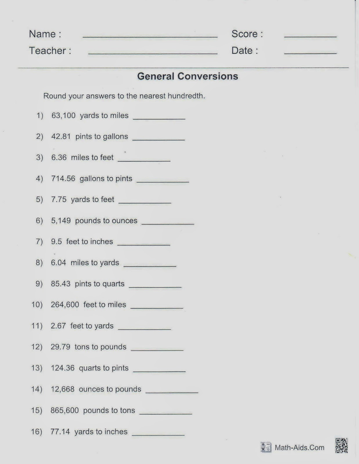 Worksheet Math Aids Rounding Grass Fedjp Worksheet Study Site
