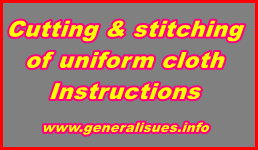 Cutting-and-stitching-of-uniform-cloth-Instructions